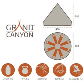 Grand Canyon Indiana Namiot beżowy